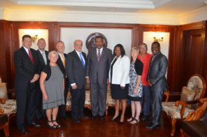 Steve Collins with ICUL coalition in Dominica